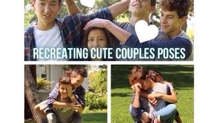 RECREATING CUTE COUPLES POSES w/ The Jarecki Twins & Julia