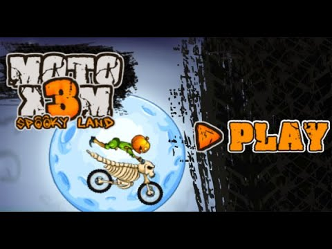 Moto X3M 6: Spooky Land Full Gameplay Walkthrough