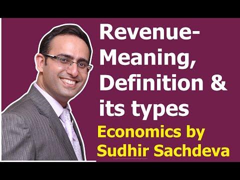 #39 Economics - Revenue - Meaning, Definition and types of Revenue (Part-1)