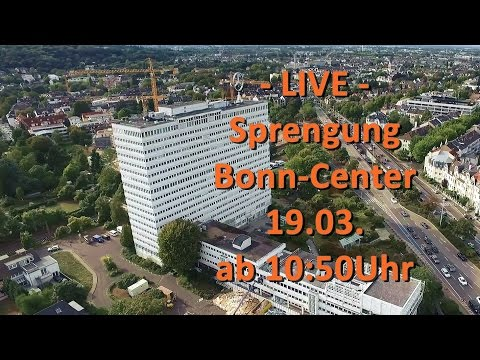 Wir waren Live: Sprengung des Bonn Center (Rohmaterial)