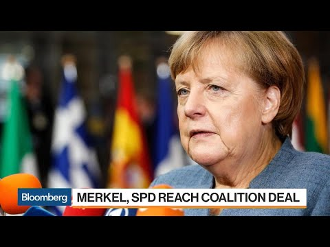 Merkel Ends German Stalemate in Coalition Deal With Social Democrats