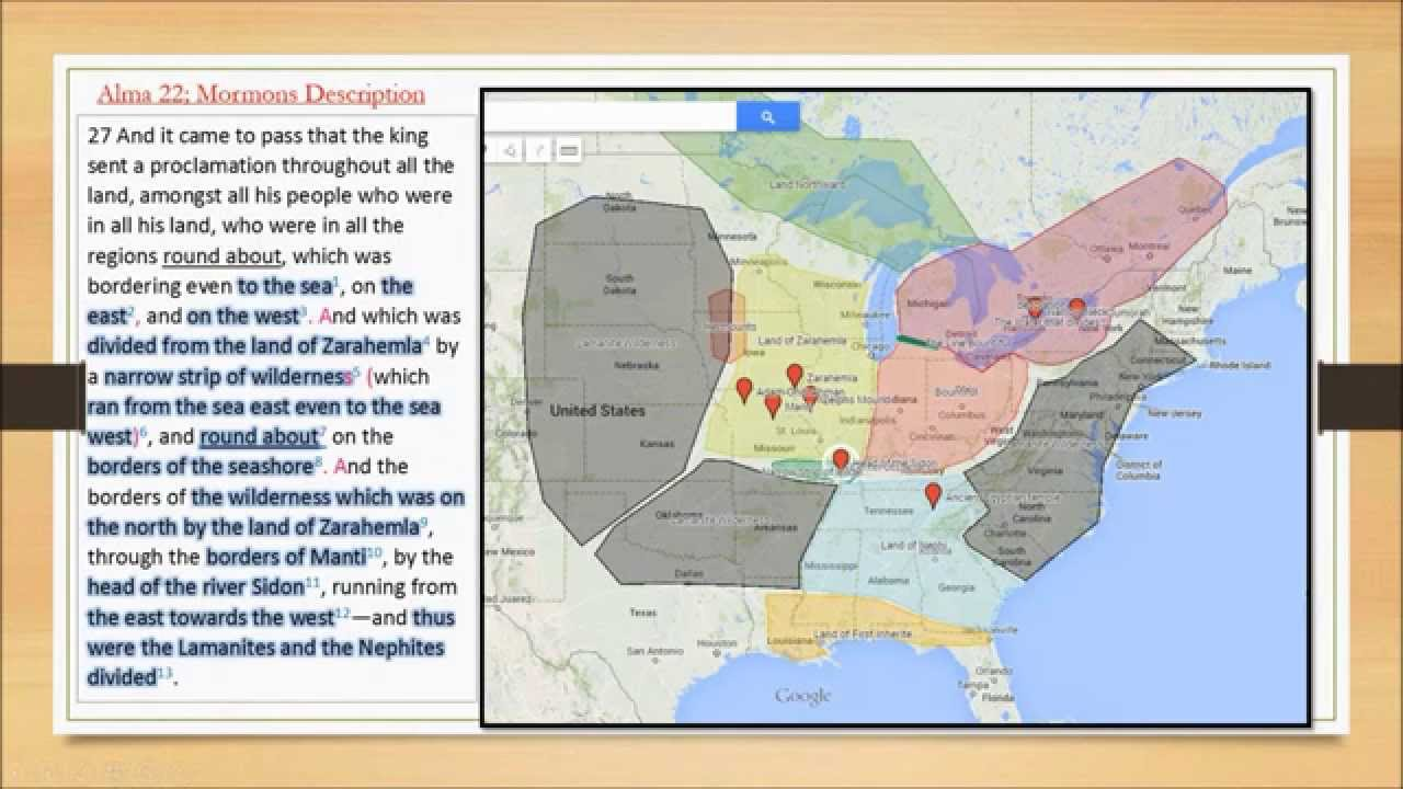 Alma 22 deciphered book of mormon map and geography high def youtube gumiabroncs Image collections