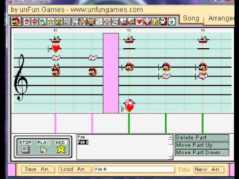 "Mario Paint - ""All-American Boys"" (Fabulous Rougeaus WWE Theme)"