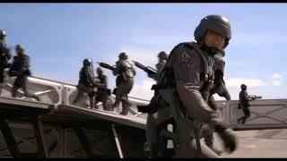 Оборона заставы звездного десанта. Отрывок из фильма «Звездный десант»