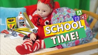 Reborn Baby Toddler Child Dolls SCHOOL MORNING ROUTINE Baby Girl Fake Baby Newborn All4Reborns
