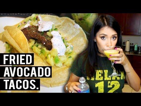 FRIED AVOCADO TACOS w/ PINEAPPLE JALAPENO RELISH 🥑🌮 | Tasty Tuesday