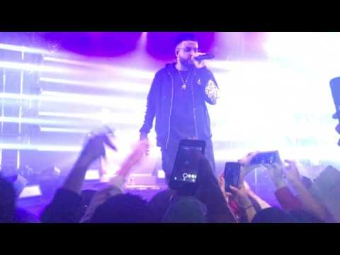 "Nav performing ""The Man"" in Toronto @ Mod club"