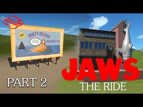 Planet Coaster - Jaws: The Ride Timelapse Part 2: Amity Island Welcomes You!