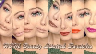 H&M Beauty Cream Lip Color Lipstick Lipswatches - Part 1 | Angelica Nyqvist