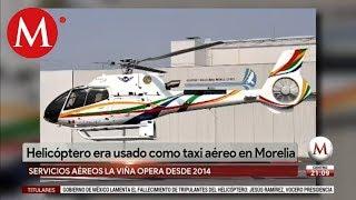 Desplome de helicóptero en Michoacán