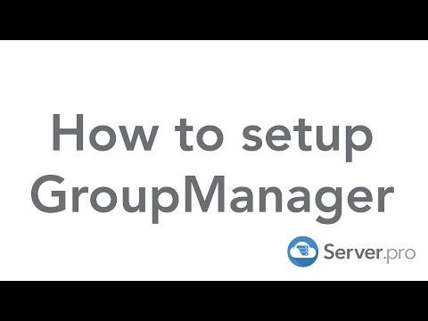 How to setup Group Manager on your minecraft server - Server.pro