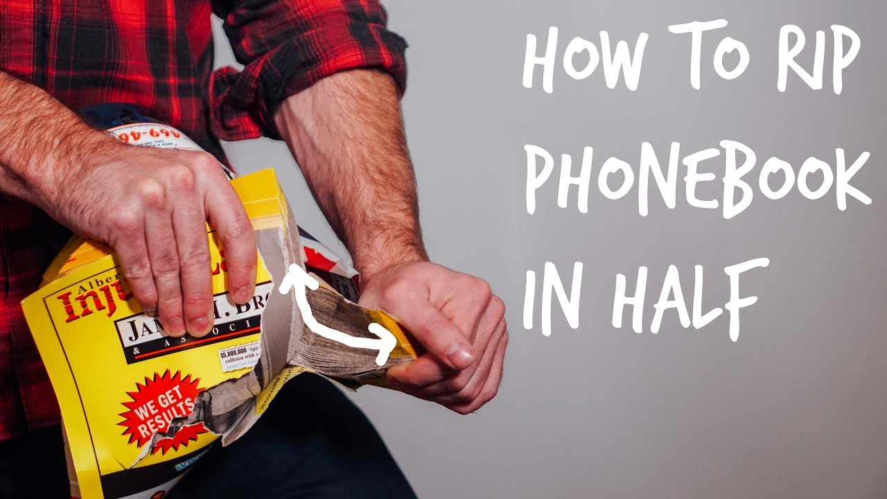 trick to tearing a phone book in half
