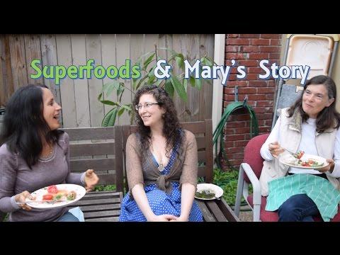 Mukbang (pt3) Superfoods & Mary's Story (Raw Vegan Fruitarian Healing Journey)