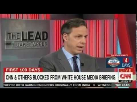 Jake Tapper: CNN & Others blocked from White House Media Briefing