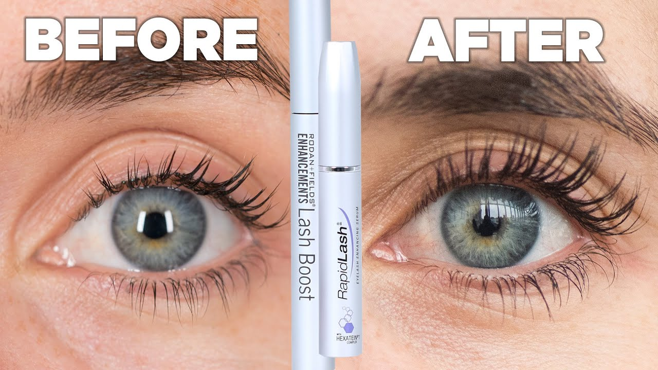 Women Try Eyelash Growth Serum For A Month Youtube