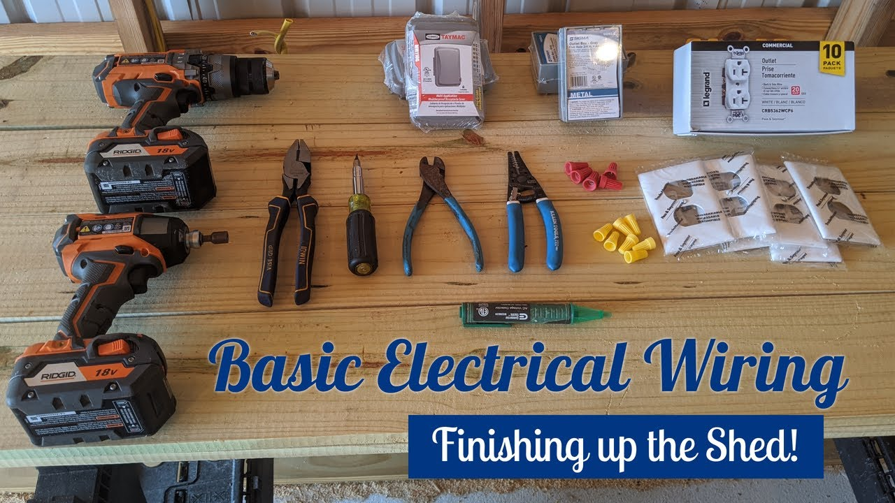 Basic Electrical Wiring 101  Shed Outlets