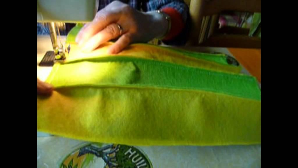 Fabriquer un coussin et une housse de coussin en feutrine - Faire une housse de coussin dehoussable ...