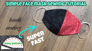 How to make a patchwork face mask making a cool face mask 2 color face mask sewing tutorial