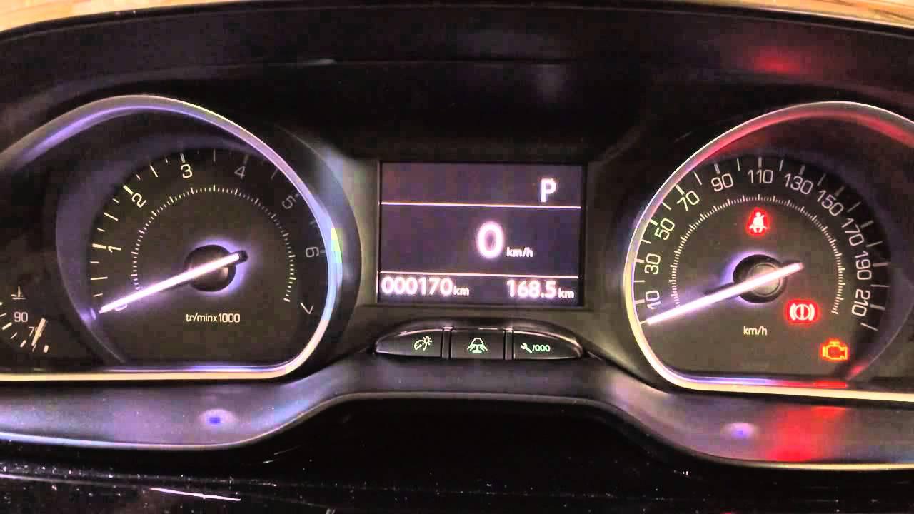 Peugeot 208 Instrument Startup Youtube