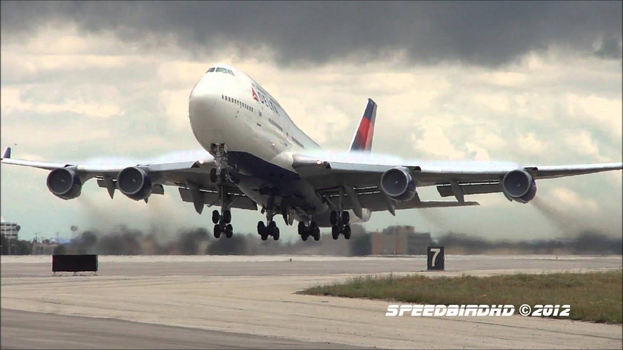 delta airlines boeing 747 451 n670us takeoff to tokyo youtube. Black Bedroom Furniture Sets. Home Design Ideas