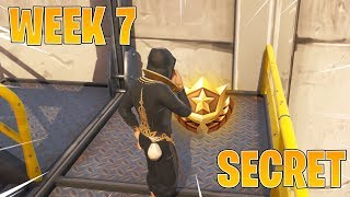 FORTNITE SEMAINE 7 SECRET BATTLE STAR EMPLACEMENT! Fortnite Week 7 Saison 9 Challenges