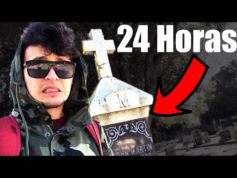 24 Horas en el CEMENTERIO RETO (HotSpanish Vlogs)