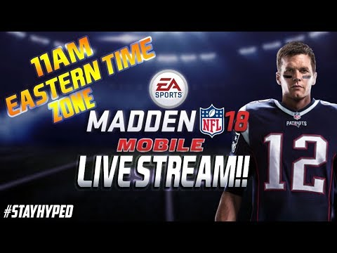 MADDEN MOBILE 18 PRE STREAM!! WAITING TILL THE GAME DROPS!!