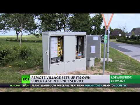 High Speed: Remote German village sets up own fast internet