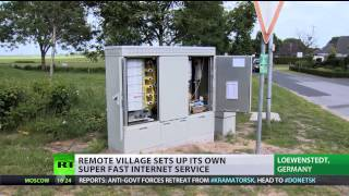 High Speed: Remote German village sets up own fast internet