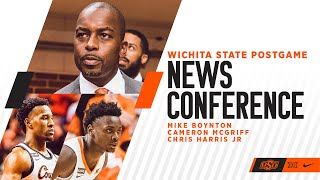Cowboy Basketball Postgame News Conference With Cam McGriff, Chris Harris Jr., and Mike Boynton thumbnail