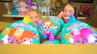 We are Opening ZURU Rainbocorns Sequin Surprise Eggs Series 2 for Girls Kinder Playtime Toy Reviews
