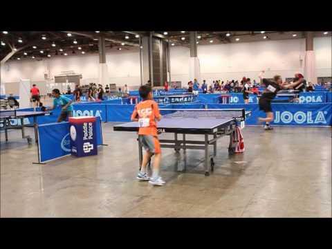 Quinn Baker vs Darryl Tsao - 2017 US National Table Tennis Championships