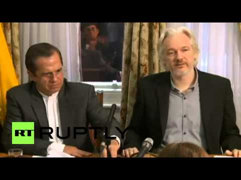 UK: Julian Assange says he will leave London's Ecuador embassy