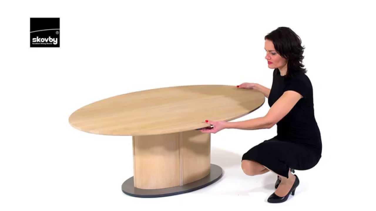 skovby height adjustable coffee table - youtube