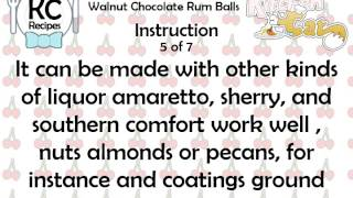 Walnut Chocolate Rum Balls - Kitchen Cat