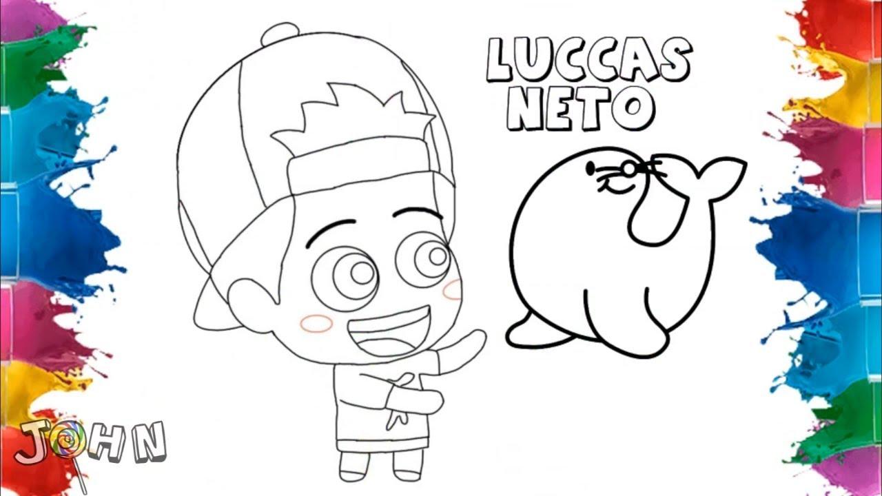 Pintando Animanetos Luccas Neto