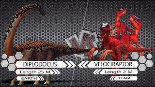 Diplodocus VS Velociraptor Dinosaurs Colosseum Battle