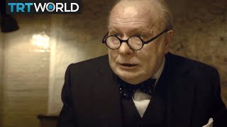 Gary Oldman portrays Winston Churchill in