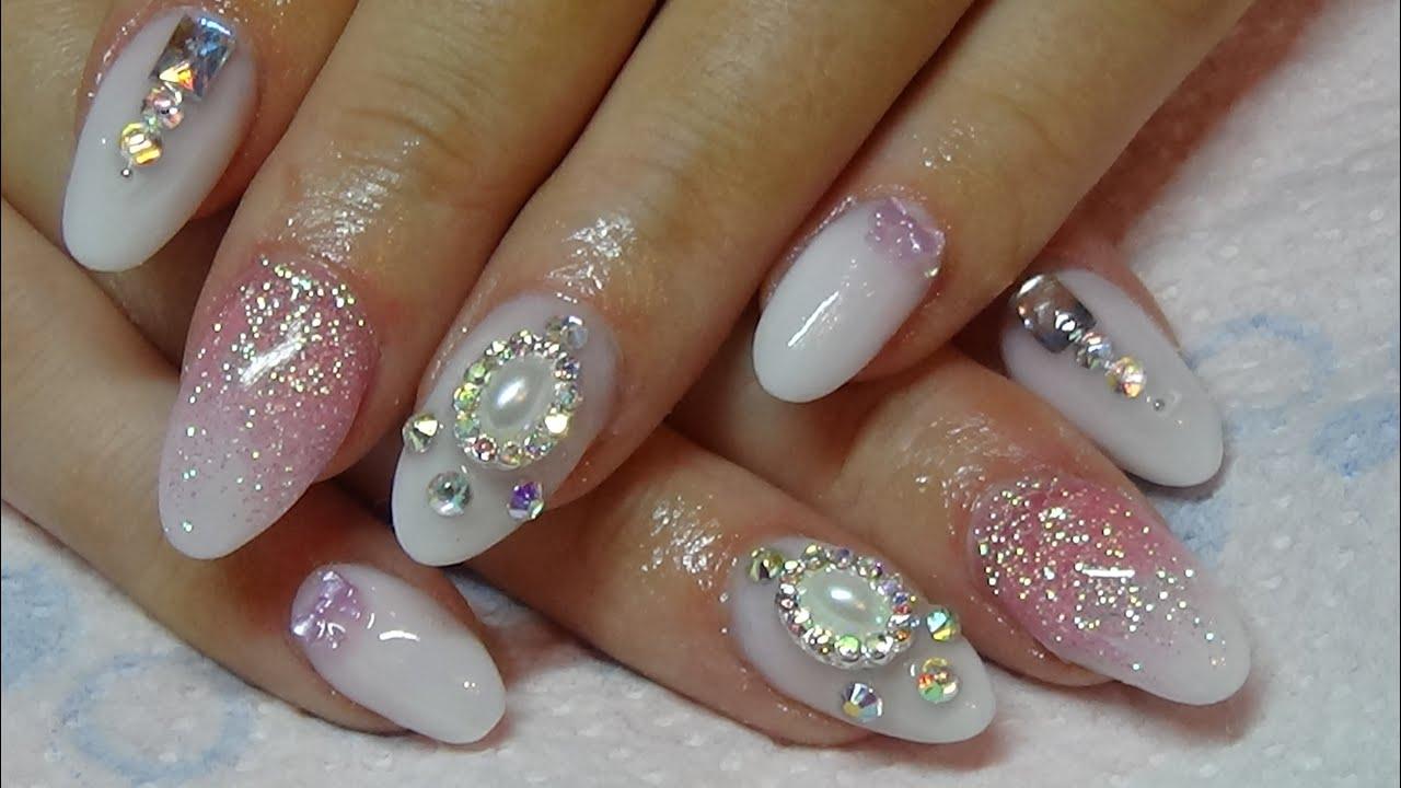 subtle baby boomer acrylic nails using naio nails products - YouTube