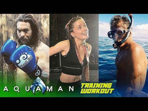 Aquaman Cast TRAINING WORKOUT (Jason Momoa & Amber Heard)