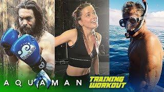 Aquaman Cast TRAINING WORKOUT (Jason Momoa & Amber Heard)