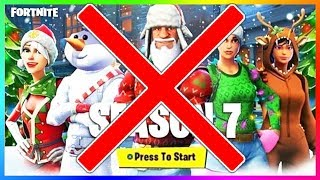 SEASON 7-BATTLE PASS WITHOUT FESTIVE SKINS?! | FORTNITE