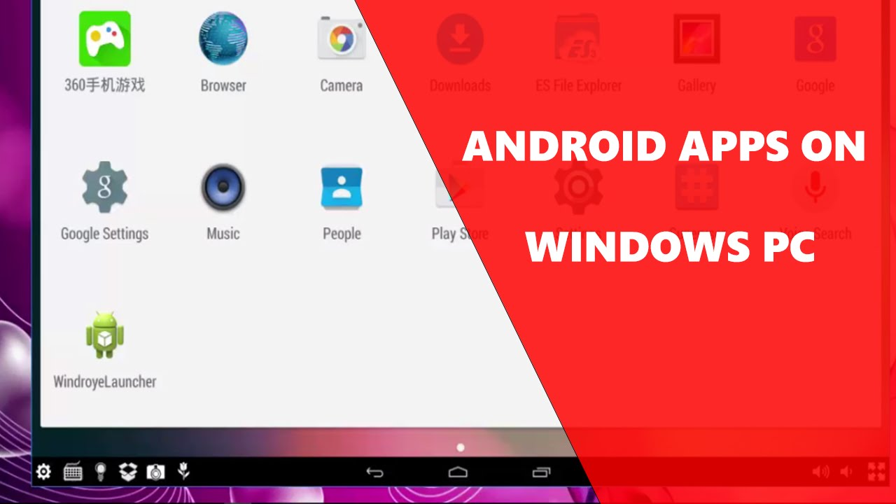 run android on windows 10