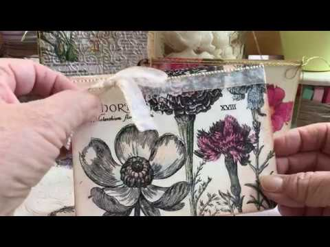 More Paper Napkin Crafting with watercolor on cards & postcards