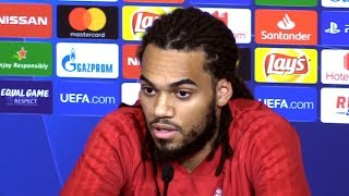 Jason Denayer Full Pre-Match Press Conference - Lyon v Manchester City - Champions League