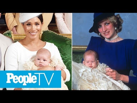 See Archie's Christening Portrait Side-By-Side With Prince Harry's 1984 Ceremony | PeopleTV