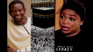 VETERAN ACTOR AFEEZ OWO WELCOME BACK KEMI AFOLABI AS SHE ARRIVE FROM THE HOLY LAND MECCA