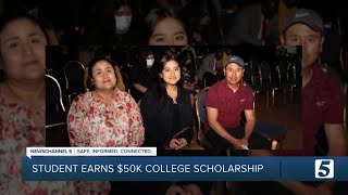 Antioch HS senior receives $50,000 scholarship; first in family to attend college
