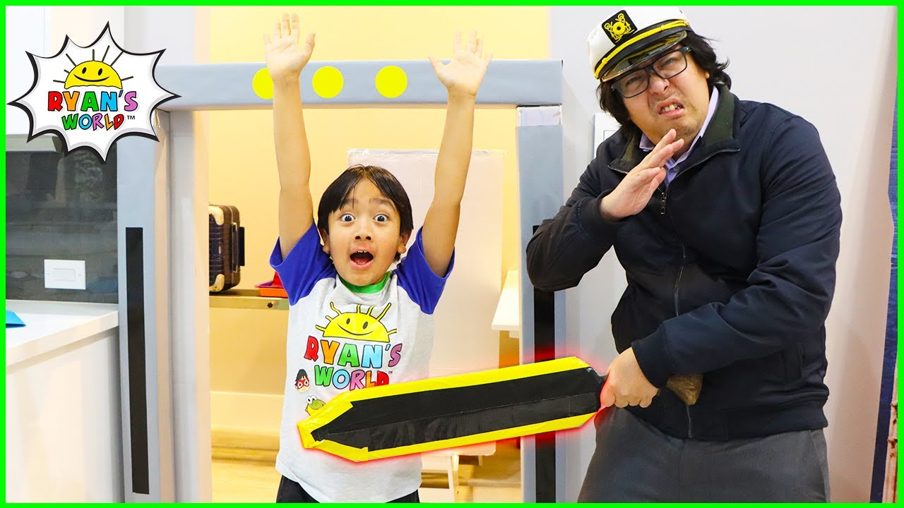 Download Ryan going through Airport Security with Daddy THE MOVIE 1 hr kids video!!