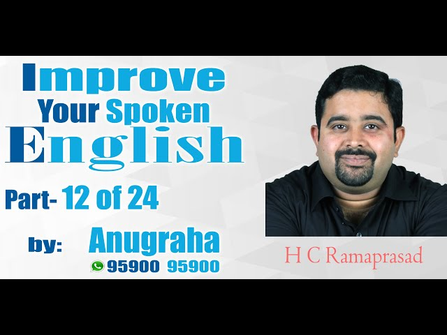 Improve your spoken English Part 12 of 24